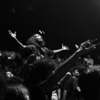 \m/        Jimmy's absence prompted a shout-out from the band to their fans; and the faithful were out in hordes to represent 'the scene', proving once again that it really doesn't get as metal as Mumbai.<br/><span class='courtesyName'> Photo Courtesy - Prashin Jagger  </span>