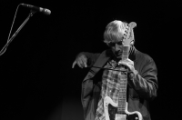 Lee Ranaldo's experimental work spans multiple decades, multiple records, multiple collaborations. It also spans multiple objects he plays the guitar with - picks, drum sticks, violin and cello bows, bells, guitar cables, etc. and so on. Nothing is off-limits, really.<br/><span class='courtesyName'> Photo Courtesy - Prashin Jagger (prashinjagger.com)  </span>